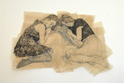 Claire Marsh, 2012, Zabel Commission Piece, indian ink on sewing paper, 150 x 70 cm