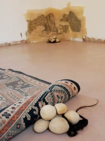 Claire Marsh, Swept Under (installation shot), 2012, Seedling Art Space SA