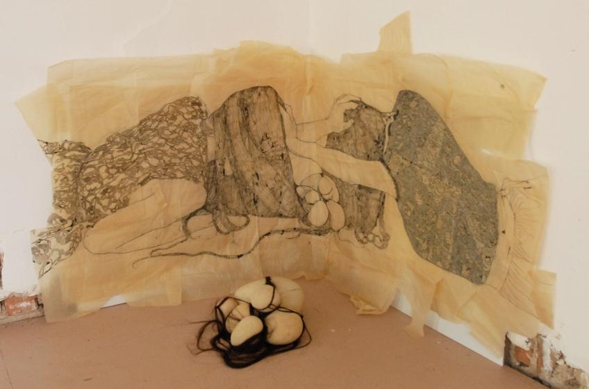 Claire Marsh, Swept Under (installation shot), 2012, Seedling Art Space SA