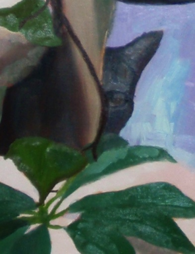 Claire Marsh, 2007, composition detail, oil on canvas