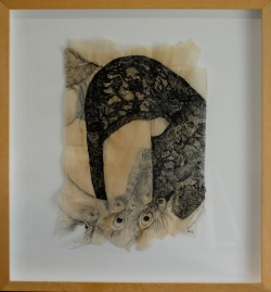 "Claire Marsh, 2012, ""Fauna"", indian ink on sewing paper"